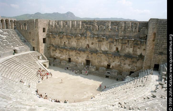 Roman Amphitheater, Aspendos, Turkey.